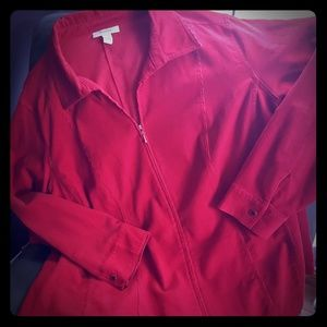 Cherry Red Thin Whale corduroy Jacket